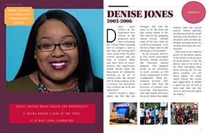 GirlGov alumni spread for Denise Jones