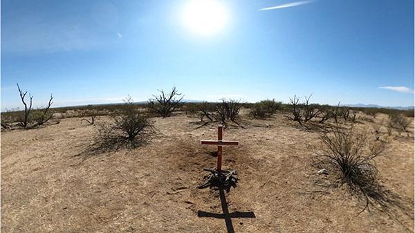 cross in the desert
